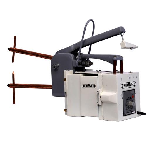Portable hand operated spot welder