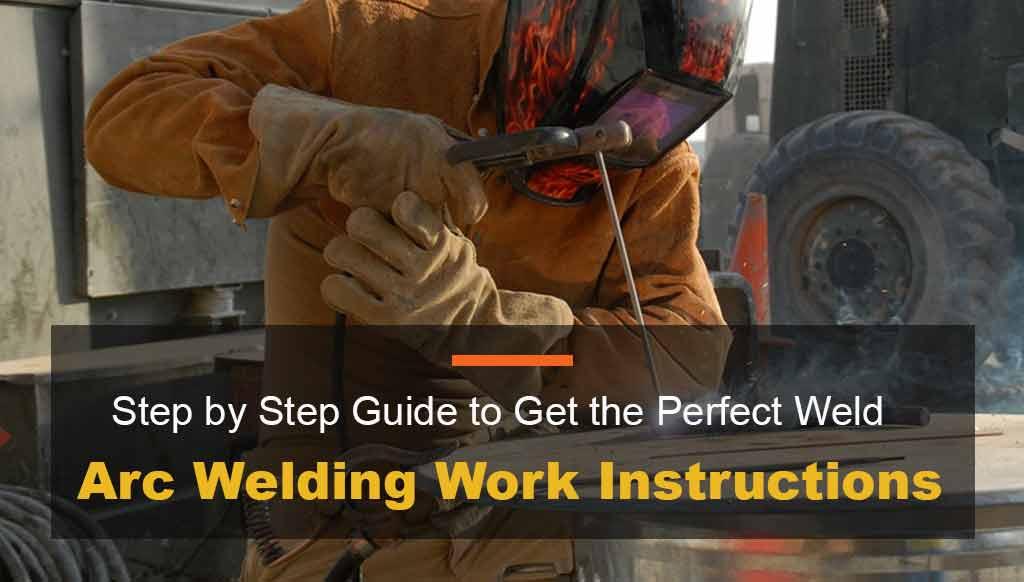 Arc Welding Machine Work Instructions